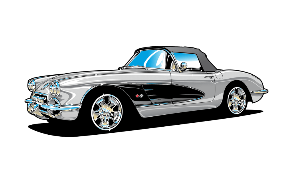 Corvette Clip Art Converted X on 1957 Chevy Wiring Diagram
