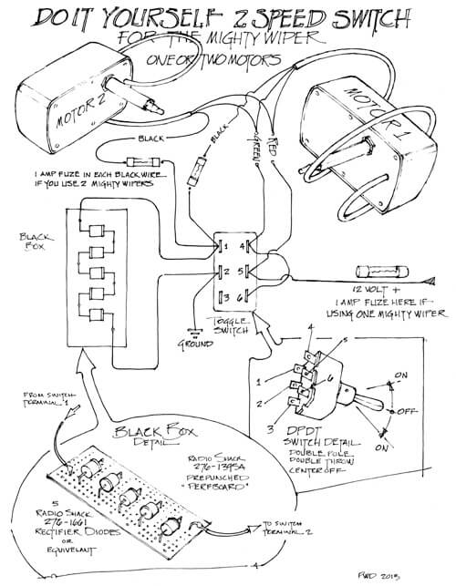 The Mighty Wiper - Wiring Diagram - RainGear Wiper Systems on