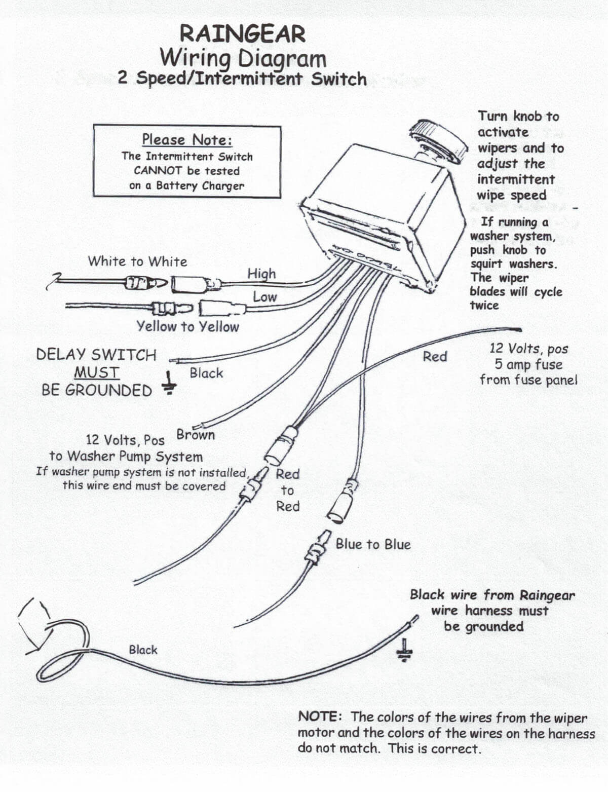 Wiring Diagram Raingear Wiper Systems 2 Line Phone Download